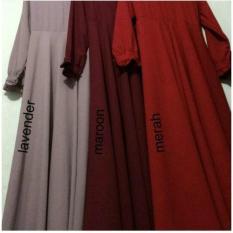 Adzra Sale!!! Promo Gamis Murah/Gamis wanita/Busana muslim/Gamis syar'i Bubblepop polos Premium