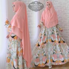 Afifahstore Gamis Syari Muslim Wanita Busui Dress Gamis Jumbo Fit XXL Muslimah Atasan Monalisa