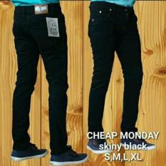 AHF Celana Panjang Jeans Skinny Pensil Cheap Monday - Hitam (Black)