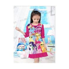 AILUBEE NIGHT DRESS PONY DARK PINK