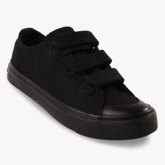 Airwalk New Basic Canvas Low Kids Sneakers Shoes - Hitam