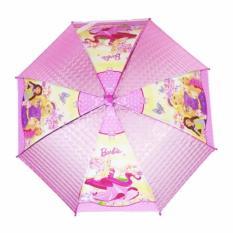 AIUEO Payung Anak Karakter dengan Peluit Motif Berbie - Pink