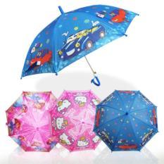 AIUEO Payung Anak Karakter dengan Peluit - Random