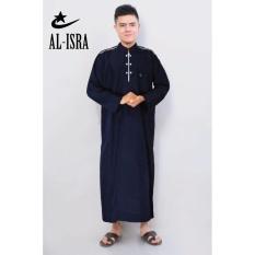 Al-isra Jubah Africani Pakaian Muslim Pria (Navy)