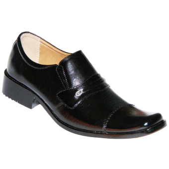Aldhino Collection Genuine Leather Shoes - Pantofel For Men -Colonia 1268 - Hitam