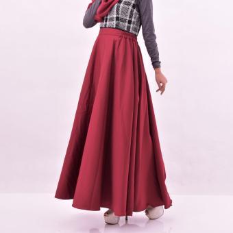Almira Rok Panjang Wanita Diandra Maroon - 2
