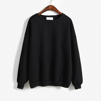 Amart Autumn Winter Women Hoodies Casual Sweatshirt Pullover Tops(Black) - intl