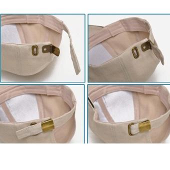Amart Fashion Korea sederhana topi Snapback bisbol pria kasual dapat disesuaikan (Khaki) - 2