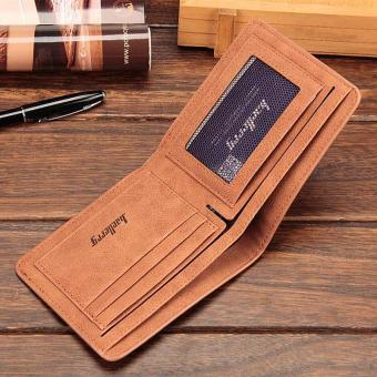 Amart Fashion Korean Men Coin Purse PU Leather Solid Color Clutch Money Bag Vintage Card Holder Man Casual Short Wallet - intl - 4