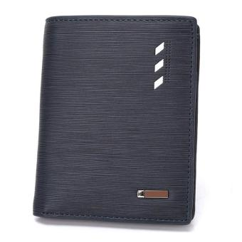 Amart Fashion Men Folded Wallet PU Leather Cards Coins Slim Purse - intl