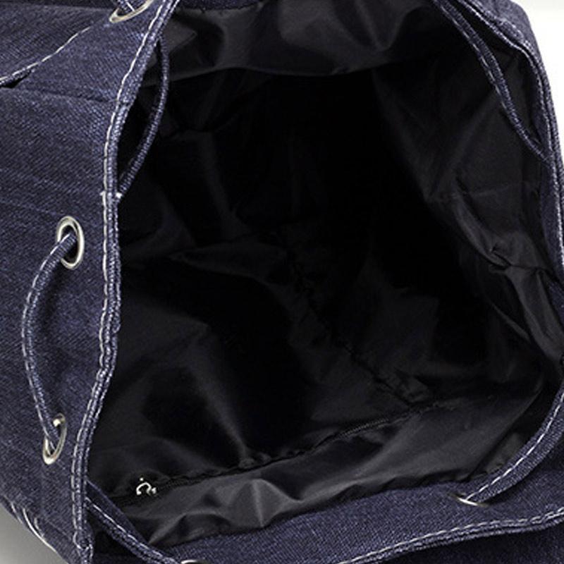 Amart Fashion ransel wanita Korea sederhana tas kanvas warna Solid kapasitas besar untuk .