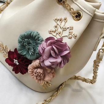 Amart Fashion tas bahu wanita buket bunga tas selempang kulit PU kecil  bertali rantai - 2 ... f369a0d5d7