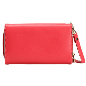Amart Lovely Crown Clutches PU Leather Wallet Portable Mobile Phone Bag(Red) - intl - 2