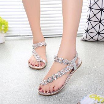 harga Amart Sandal Wanita Fashion Musim Panas Kasual Sepatu datar Thong Bohemia Lazada.co.id