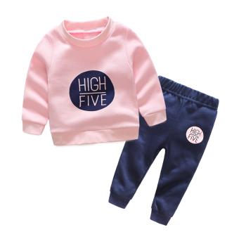 Harga Termurah Anak-anak baru bayi bayi pullover sweater (Merah muda Inggris TZ006) Pelacakan Harga