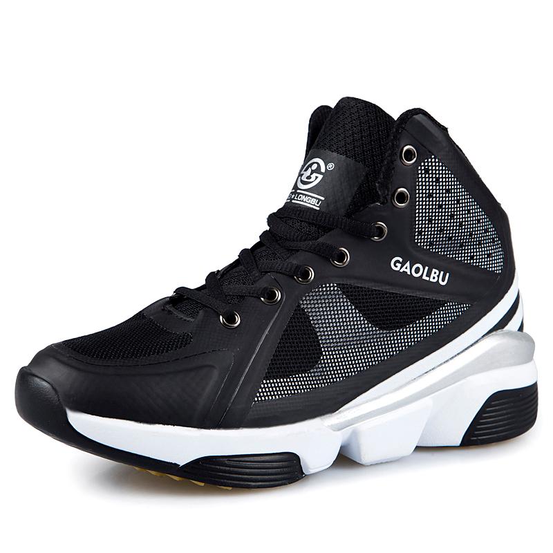 Anak Laki Laki Pria Fashion Jala Sepatu Basket Sepatu Olahraga Hitam ... 86900dbf58