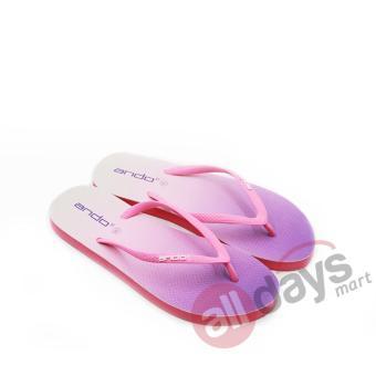 ... Ando Sandal Jepit Nice Spectrum Ladies - Merah Muda - 3 ...