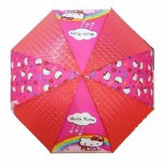 ANGEL Payung Anak Karakter dengan Peluit Motif Hello Kittys TIPE 2 - Pink