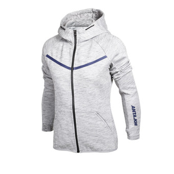 Harga ANTA Baju Olahraga Wanita Model Musim Semi Dan Musim Gugur Produk Asli Kaos Sweater (Dangkal Bunga Abu-Abu-1) Murah