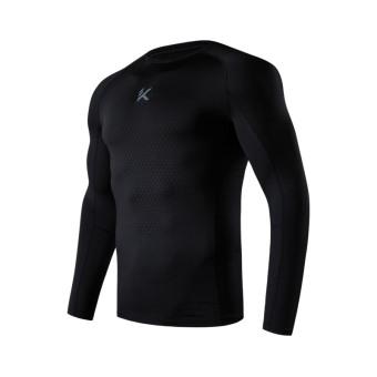 Gambar ANTA Kasual Pria Musim Gugur Baru Kebugaran Pakaian T shirt (Dasar  Hitam) 01c8b27c9e