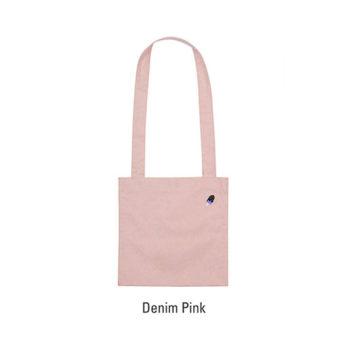 Antena toko lucu bordir asli kasual tas bahu (Denim merah muda)