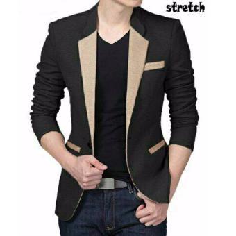 Gambar Aquinn Labelle Blazer Long Sleeve Squall (Hitam Cream)