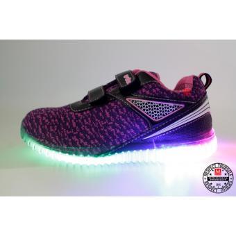 Gambar ARDILES Sepatu Anak Lampu Hoki Black Purple