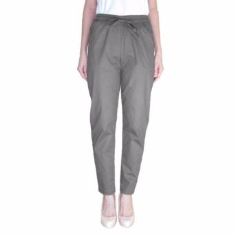 Harga Arena Belanja plus size drawstring pants grey