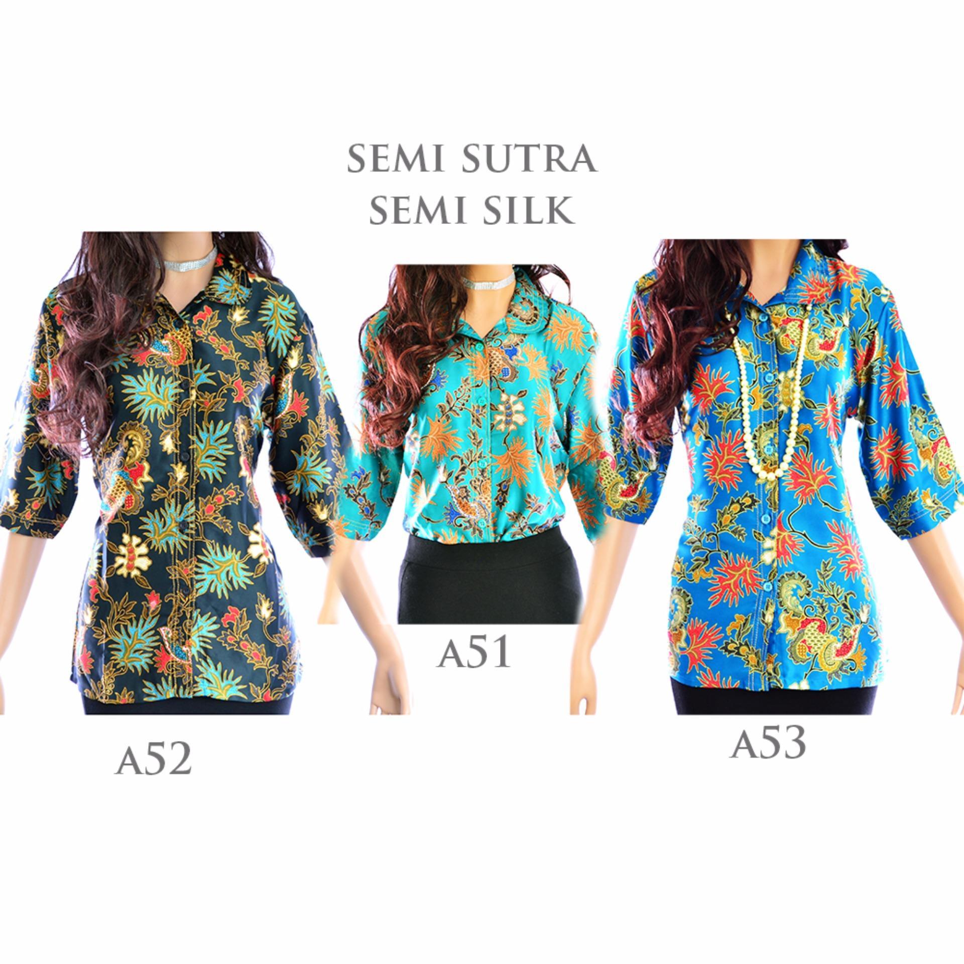 Cj collection Couple batik Atasan blouse kemeja abaya kebaya wanita dan atasan kemeja pria shirt Merryna