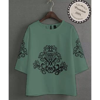 Ayako Fashion Atasan Wanita Blouse Sasa - (Green)