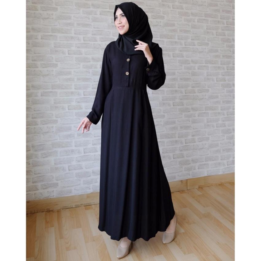 Ayako Fashion Long Sleeve Maxi Hilda (Hitam)