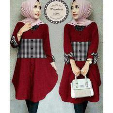 Ayako Fashion Tunik Zoya - (Red)