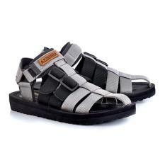 azzura 552-28 sandal gunung pria - webing - gagah dan keren (Abu-abu)