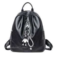 Backpack Import Women/Tas Punggung Import/Tas Ransel Import/Ransel Travelling ( 3P Leather Ransel Import Gatungan Boneka ) - Black