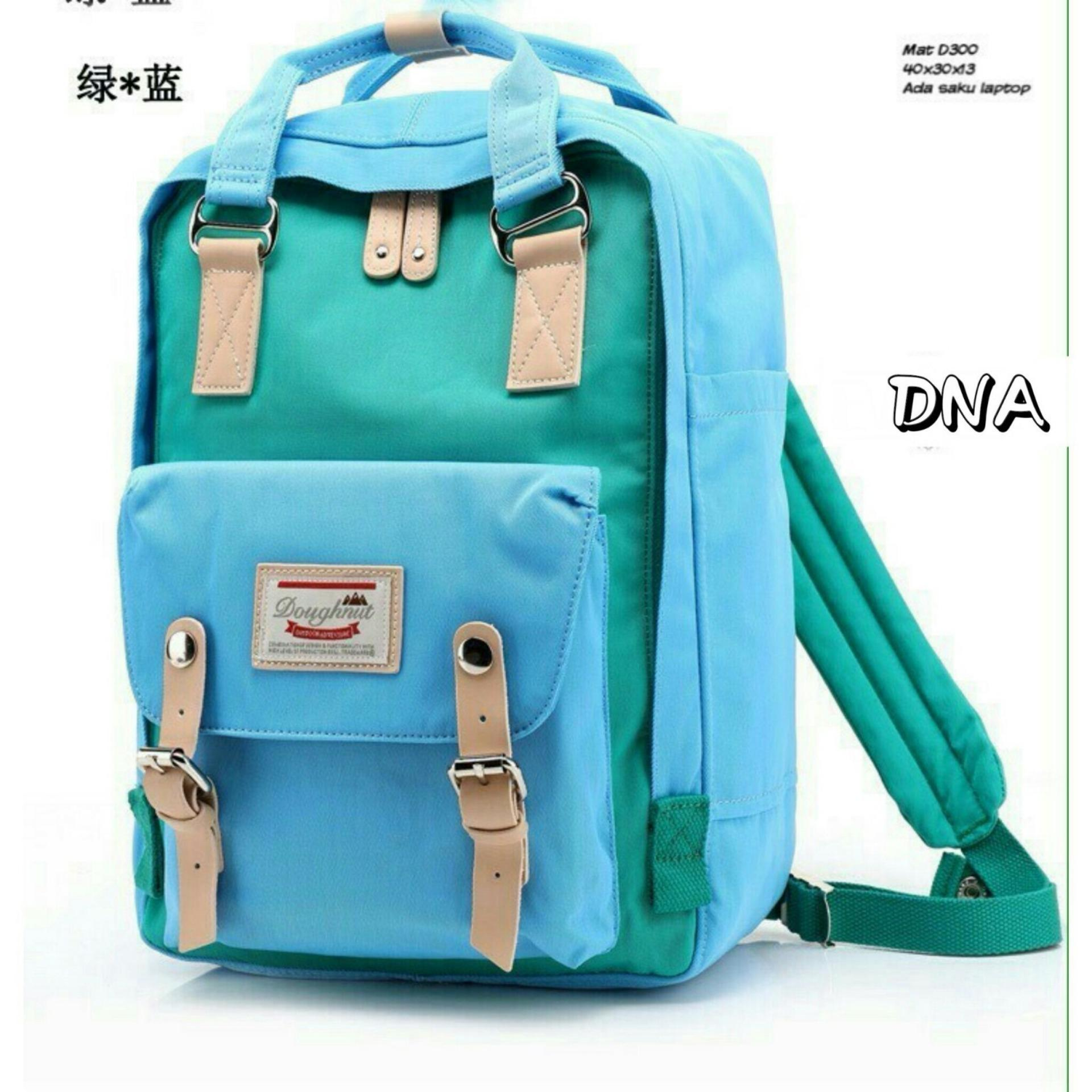 Backpack Korean Style Dough bination 2 Colors Tas Ransel Wanita Korean Style Blue
