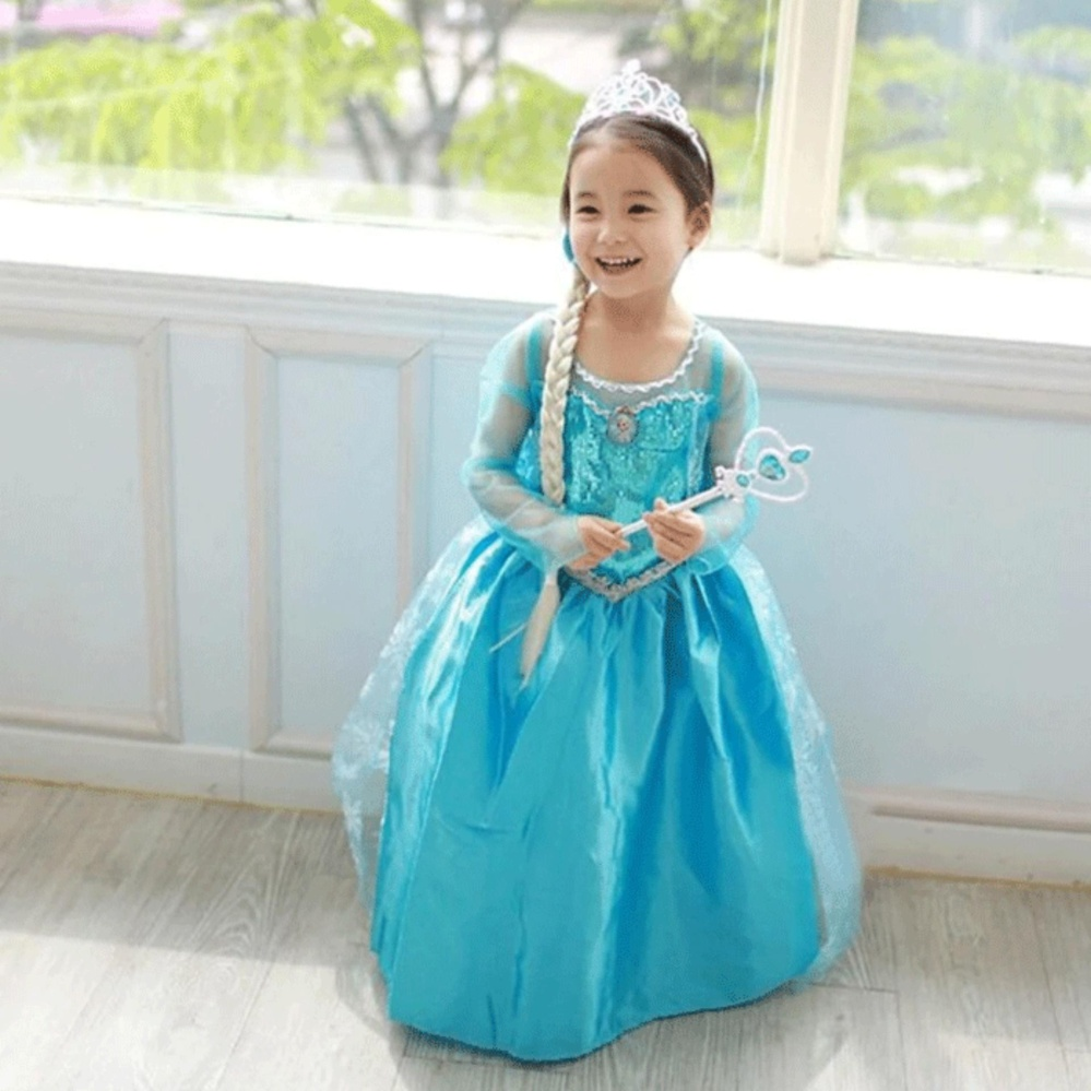Baju Anak / Gaun Pesta / Dress Frozen Elsa Wing Anna Fashion Kostum Princess Cosplay