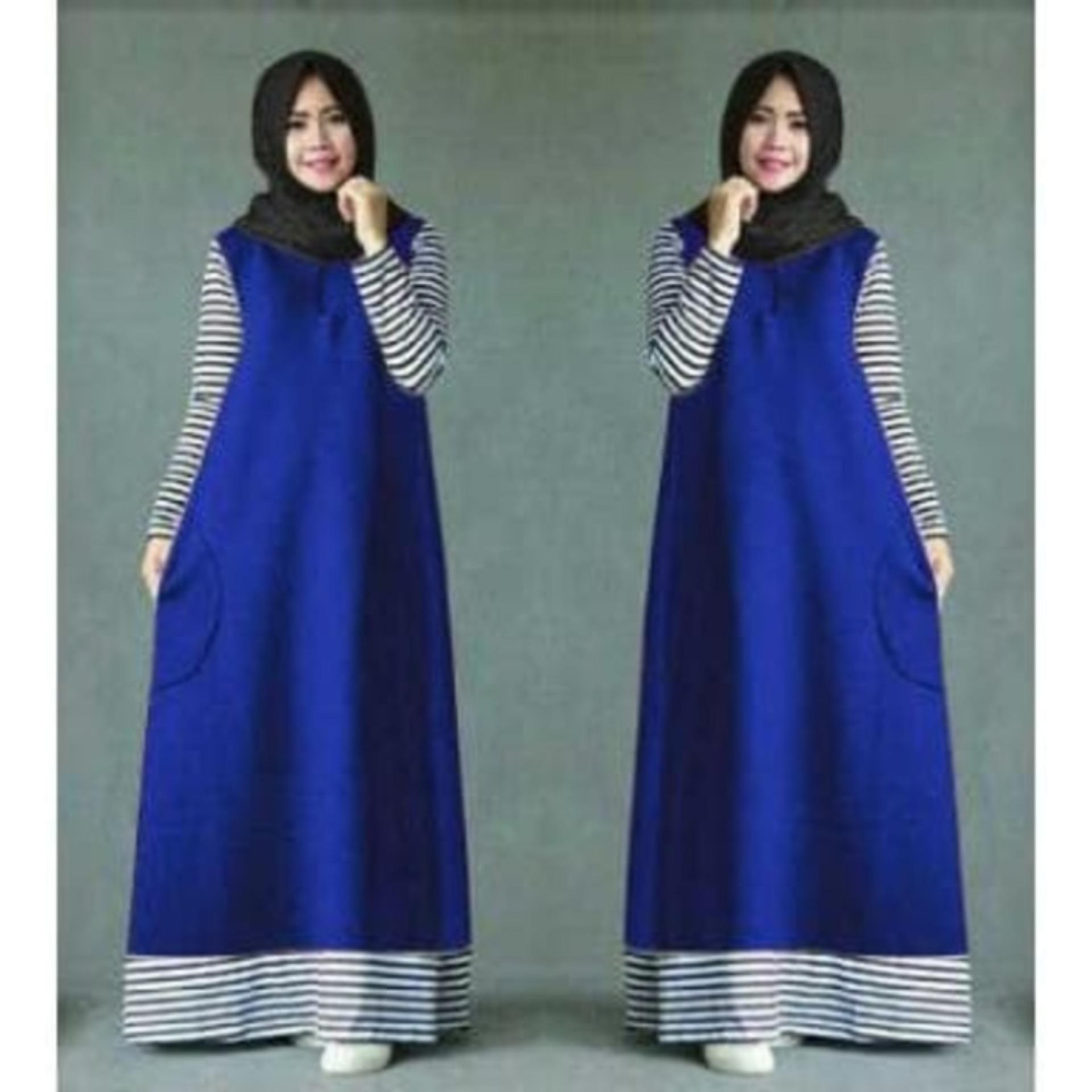 Perbandingan Harga Baju Gamis Ameera Biru Baju Dress Maxi Muslim