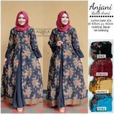 Baju Gamis Batik Muslimah Anjani Longdress Busui XL