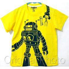 Baju Kaos Anak Laki Laki Robot Kuning Size 1 2 3 4 5 6 Tahun