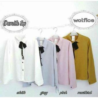Pencarian Termurah Baju Original Damita Top Wolfis Baju Atasan Wanita Muslim PanjangPakaian Kerja Santai Casual Simple Warna White Daftar Harga