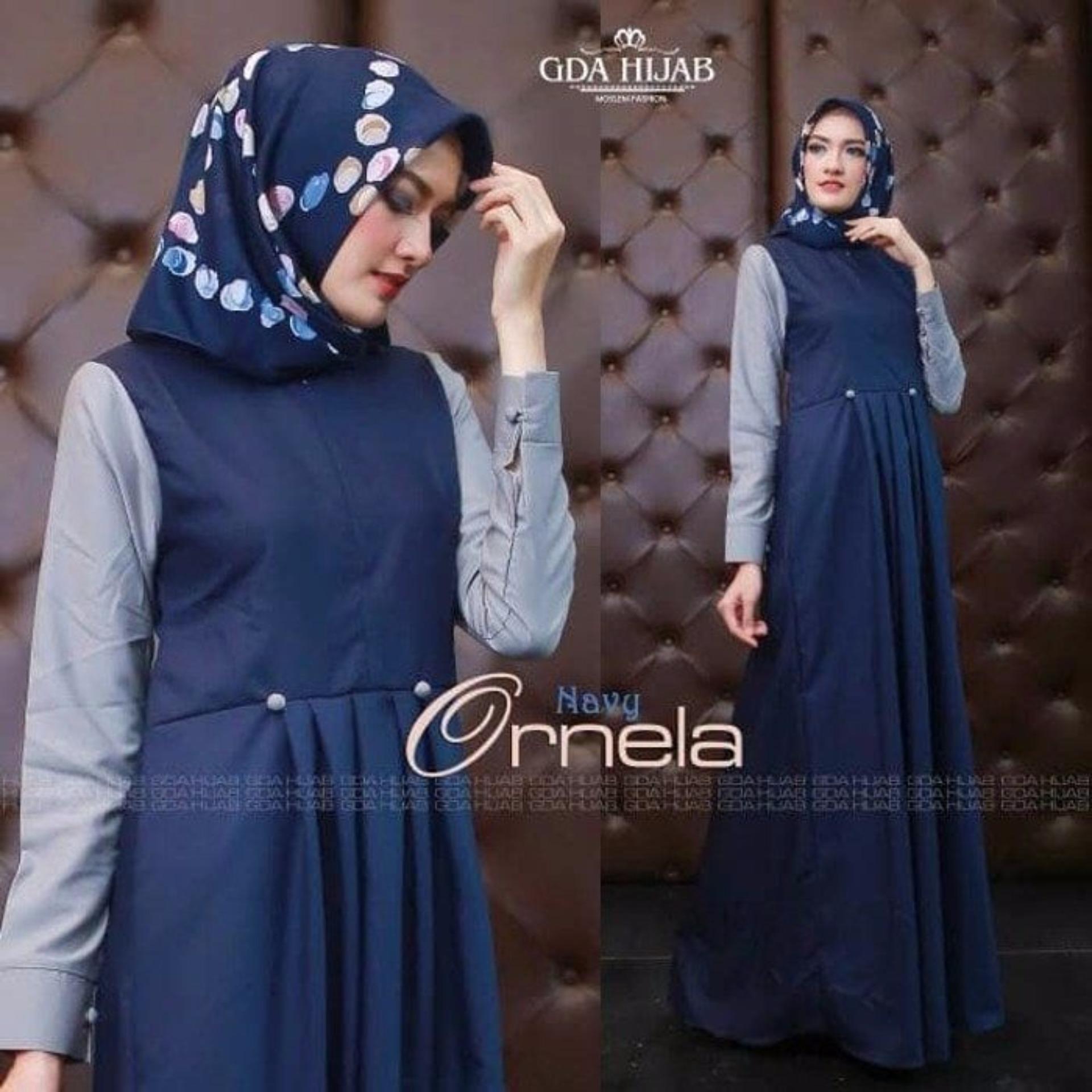 Murah Baju Original Gamis Ornela Dress Baju Panjang Casual Wanita