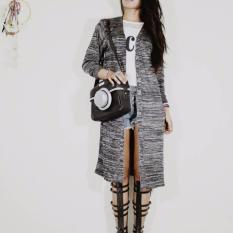 Baju Original Twist Long Cardie Luaran Hijab Cardigan wanita Muslim Rajut Warna Hitam