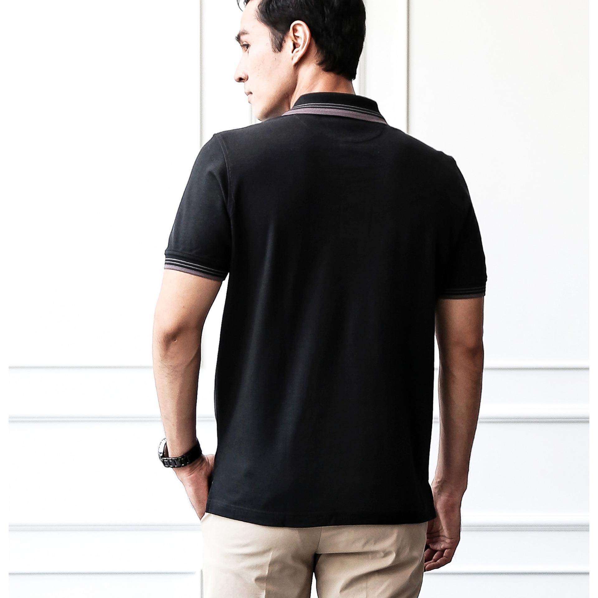 Baju Pria Crocodile Men Polo Shirt Bahan Katun 100 Cotton John White Palm Relax Fit L
