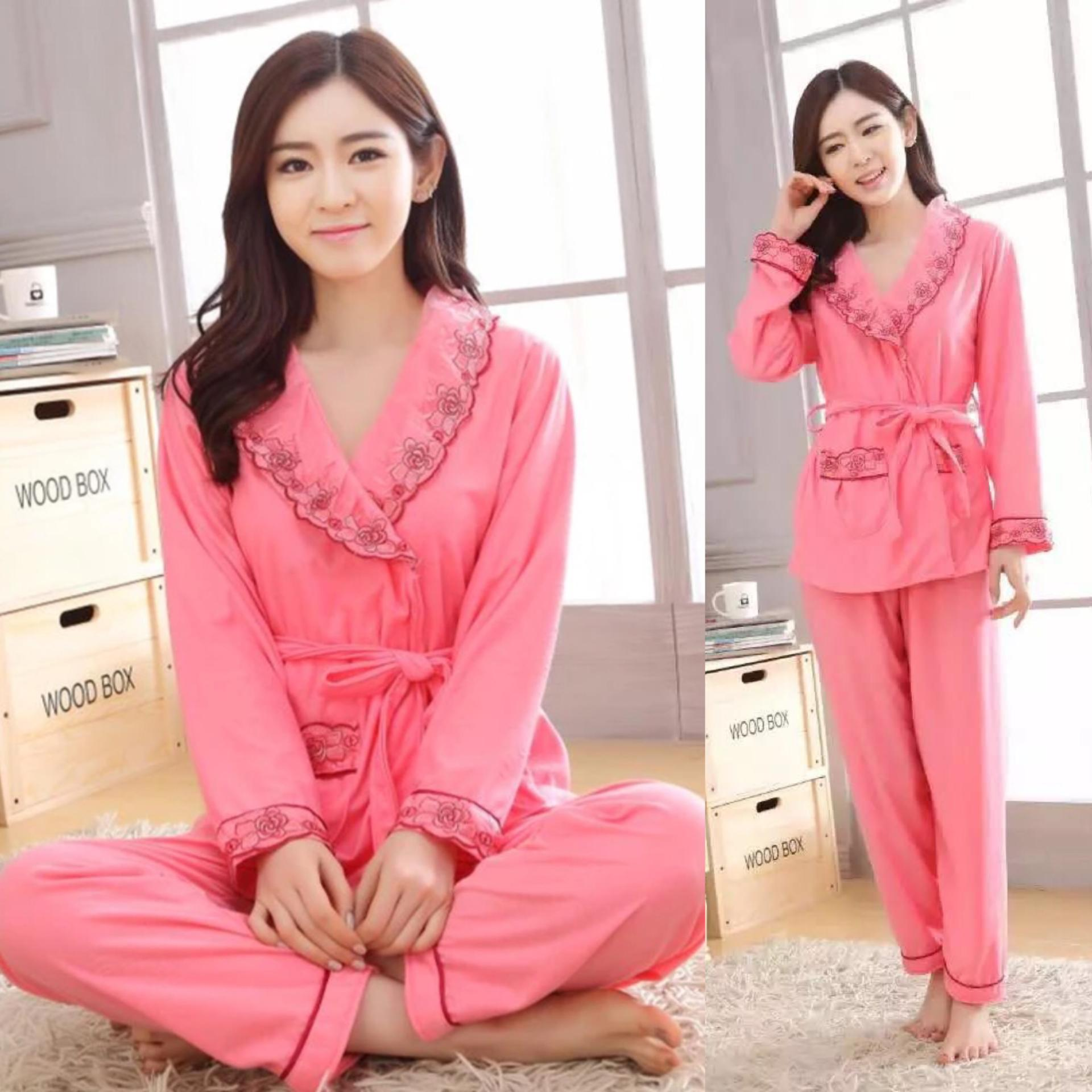 Baju Tidur Import Panjang Daftar Update Harga Terbaru Indonesia Piyama Pria Korean Style Kimono Cewek Set Bajutidur Muslim Murah