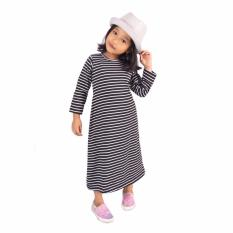 Baju Yuli Dress Anak Perempuan Lucu Bergaris - Toska PutihIDR40000. Rp 40.000