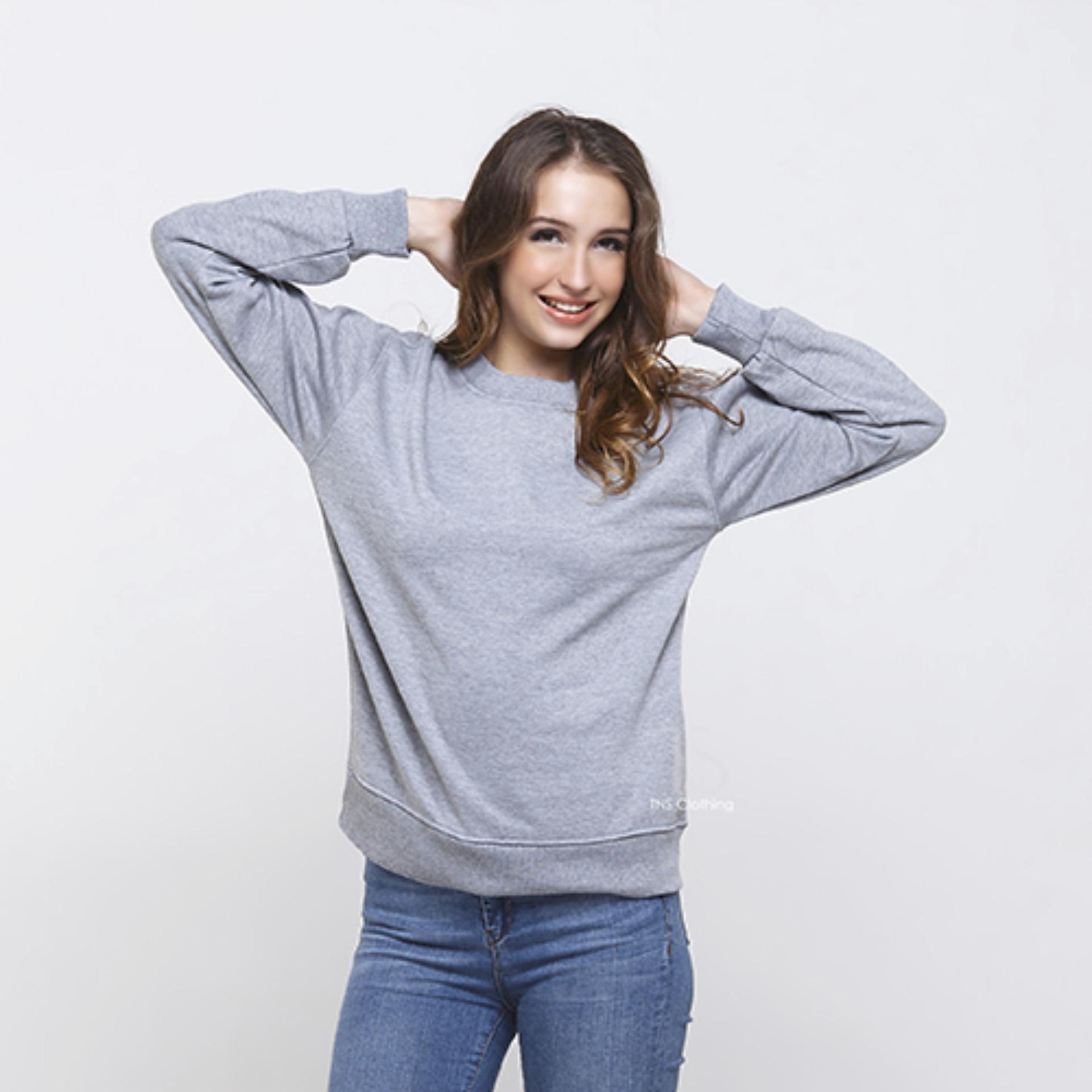 ... M Xl Source · Bajukitaindonesia Jaket Basic Sweater Polos ABUMUDA Pria danWanita