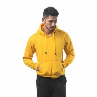 Bajukitaindonesia Jaket Hoodie Jumper Polos KUNING - M-XL