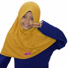 Bajuyuli - Kerudung Jilbab Anak Murah Polos Pita Cantik Kuning Golkar