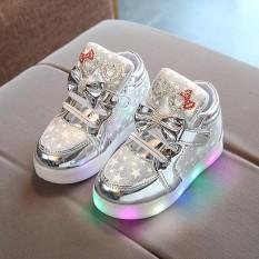 Balita Bayi Fashion Sneakers Star Luminous Anak Casual Sepatu Lampu Penuh Warna