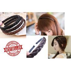 Bando Kepang Bandana Kepang / Braided Headband Karet Fashion Wanita - 1Pcs